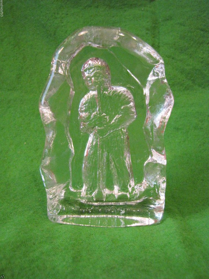 #Sweden #Reijmyre art #glass #figurine #Vintage paperweight #glassblower figure  Home #Decor #Design