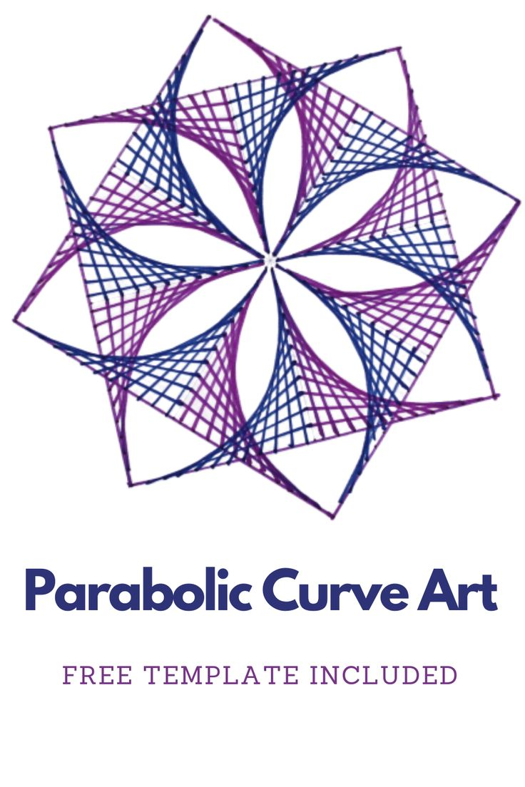 flower parabolic drawing curve straight lines template draw using easy drawings very drawn line simple sparklingbuds creative geometric youtu