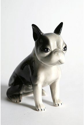 I own this and love it. boston terrier bank.