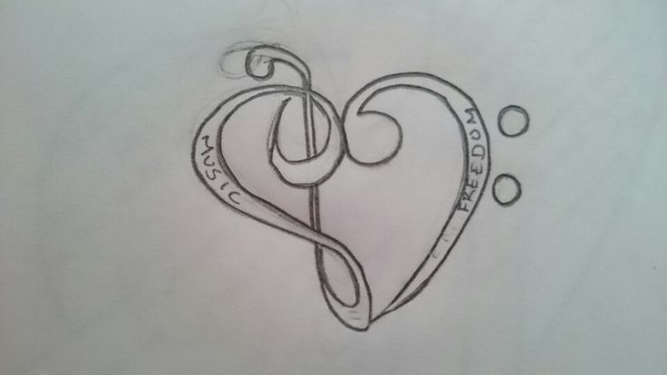 A tattoo design that I want music is freedom music is a big part of me and i love it