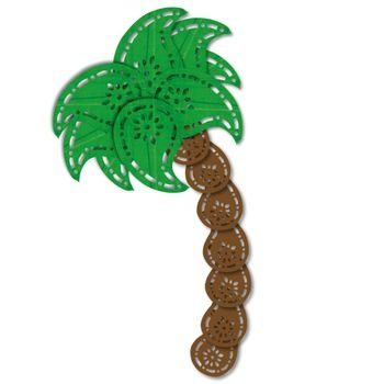 A palm tree from paisley punches