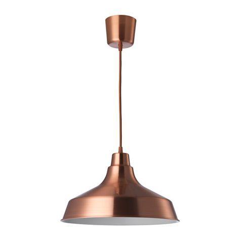 VINDKÅRE Lámpara de techo, rojo cobre