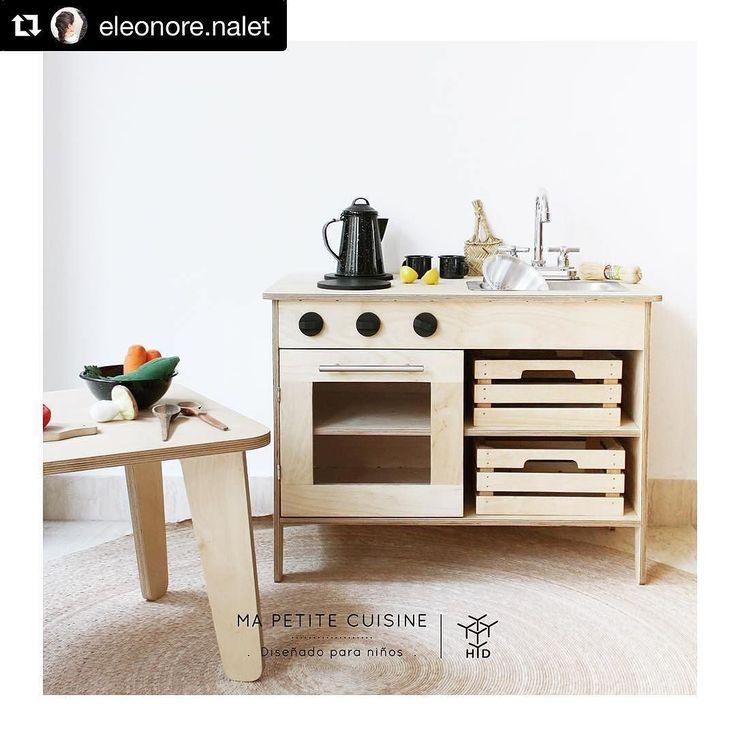 Felices de ser parte de este lindo proyecto que hará felices a muchos niñ@s y a sus padres también!  #cocinita diseño de @eleonore.nalet de venta en HyD! #juguetes #niños #madera #hechoenmexico