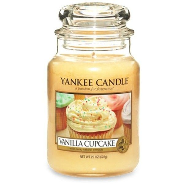 Yankee Candle Vanilla Vanilla Cupcake Large Jar Candle ($28) ❤ liked on Polyvore featuring home, home decor, candles & candleholders, candles, filler, vanilla, scented candles, cupcake candle, scented jar candles and vanilla candle