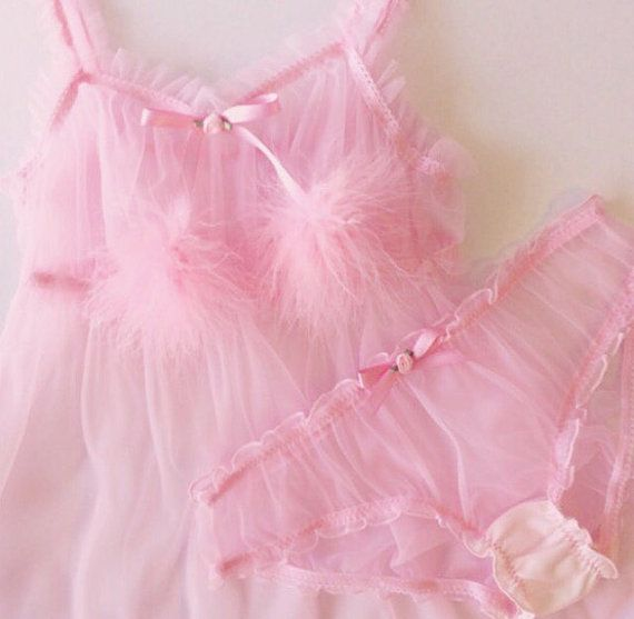 Candy Pink Ruffle Babydoll by SugarLaceLingerie on Etsy