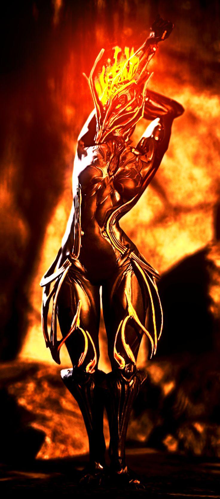 Warframe : Ember , The Goddess Of Firestorm by AnoobArak94