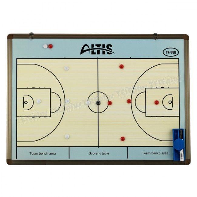Altis TK-30 B Duvar Tipi Basketbol Taktik Tahtası - Duvara asma aparatlı  Basketbol saha şablonu  Kalem, silgi, defter ve mıknatıs parçalarından oluşmaktadır - Price : TL294.00. Buy now at http://www.teleplus.com.tr/index.php/altis-tk-30-b-duvar-tipi-basketbol-taktik-tahtasi.html
