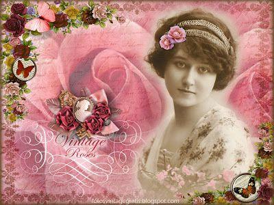Imágenes vintage gratis / Free vintage images: Rosas vintage