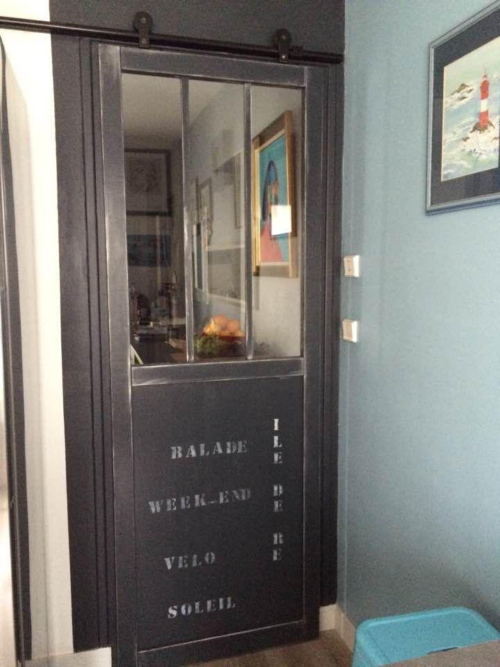 Porte Indu Cuisine Leroy Merlin Peinte Avec Peinture Eleonore Deco Pochoir Meubles De Cuisine Kitchen Remodel Remodel Home Remodeling