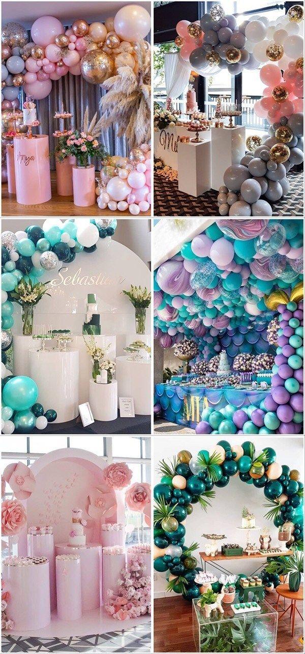 Wedding Cake Table Balloons Backdrop Wedding Decoration Ideas Wedding Tre Diy Wedding Cake Table Decorations Wedding Balloon Decorations Diy Wedding Cake Table