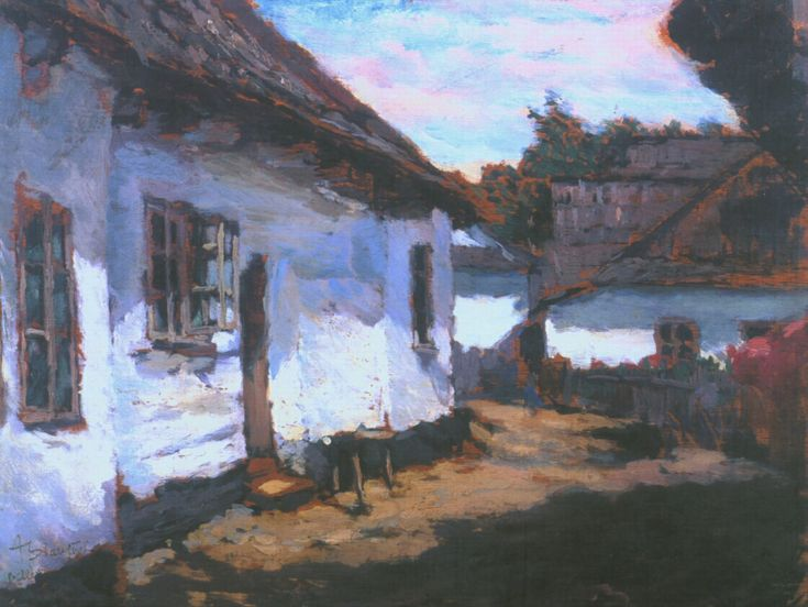 ANTONÍN SLAVÍČEK (1870-1910) The old cottages in Hlinsko - Betlém
