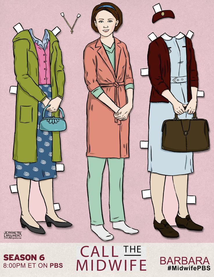 Celebrate another season of Call the Midwife with custom-made paper dolls of your favorite Nonnatus House midwives, including Chummy, Trixie, Barbara and Patsy.