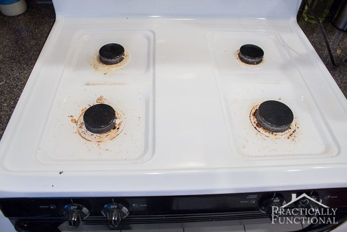 How To Really Clean A Stove Top - if you still have baked on gunk after cleaning your stove, try this trick to get it clean