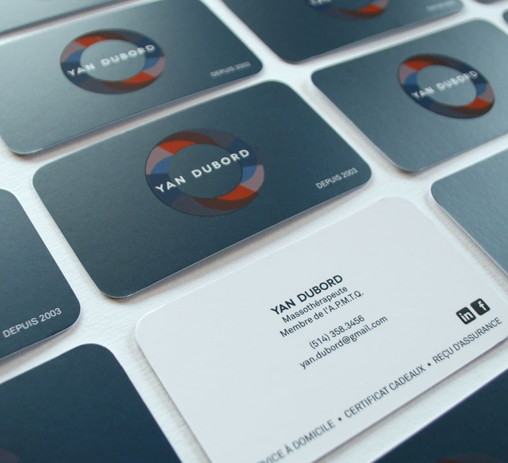 yan dubord spot uv business card design
