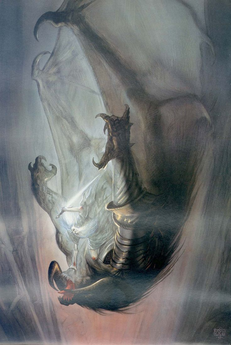"""John Howe: Gandalf and the Balrog """"The Two Towers"""""""