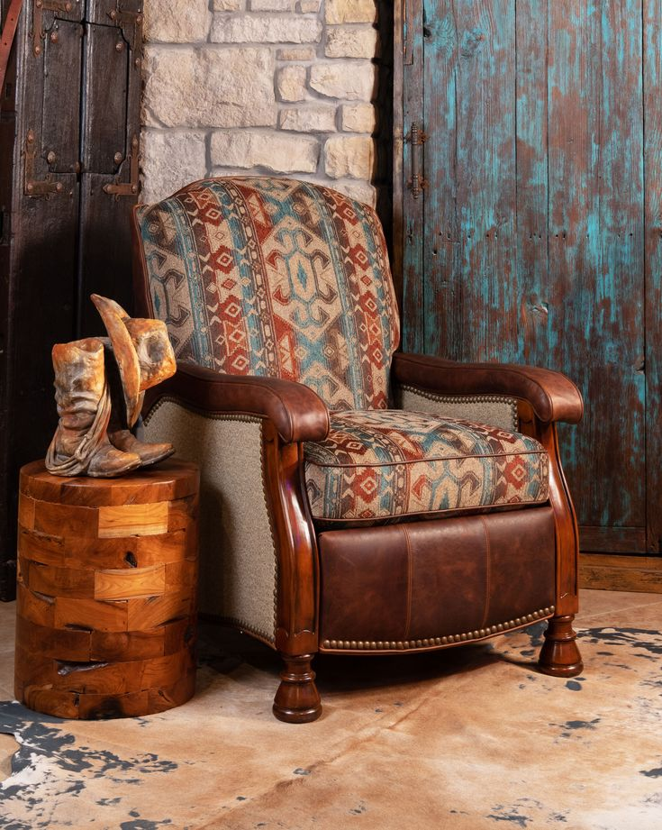 Striking, beautiful and colorful: the Henna Recliner is an effortlessly cool chair that is sure to make a statement in any room of the house.