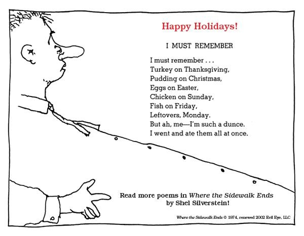 everything on it poem shel silverstein pdf