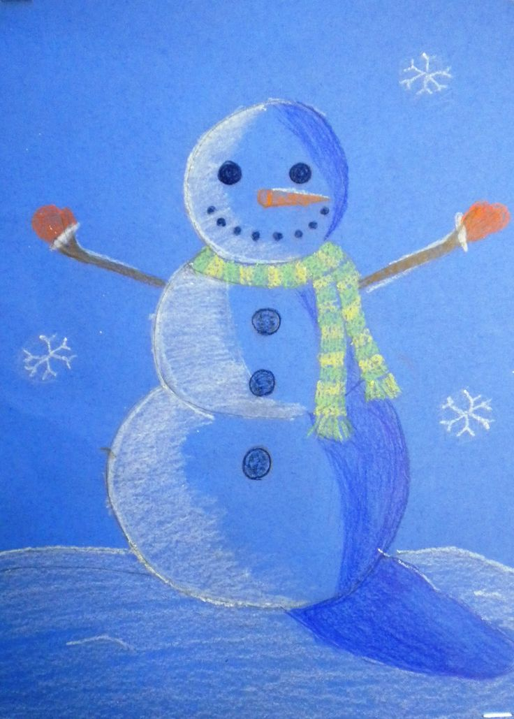 For the Love of Art: 6th Grade: Finished Value Snowmen