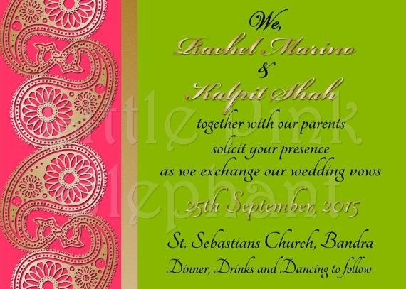 Modern Indian Wedding Invitations Uk: Best 25+ Indian Invitations Ideas On Pinterest