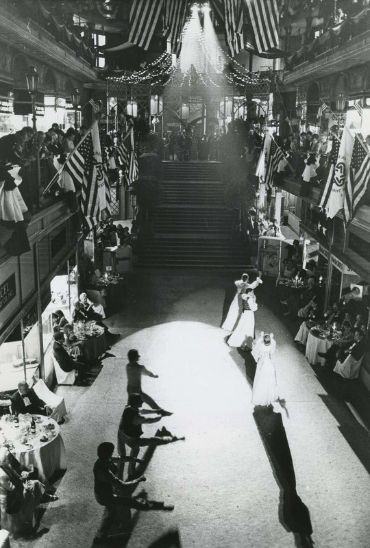 This photograph is of a performance of the Cleveland Ballet at the Arcade which was taken on August 9, 1977. Due to financial difficulties, the Cleveland Ballet stopped performing in September 2000. Oh, the possibilities for the future...