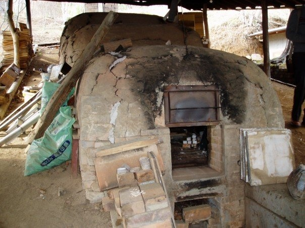 Japan 2006...old firing kiln for making pottery. Still used by the man who owns it.