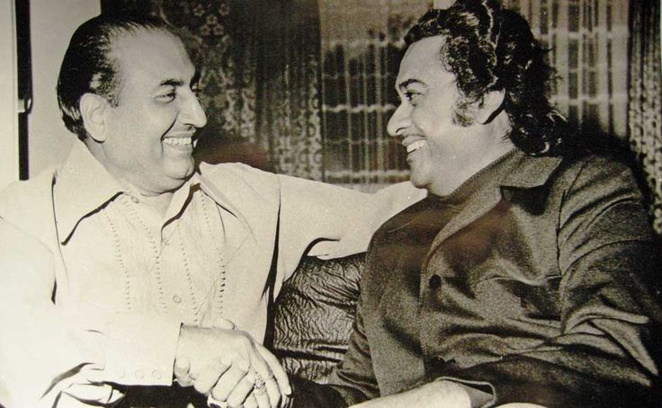 The legends of Hindi film music - Mohammed Rafi with Kishore Kumar.