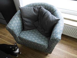 Ich habe es endlich geschafft, den Sessel fertig zu beziehen!   Vielleicht erinnert ihr euch ja noch, so sah der Sessel vorher aus: