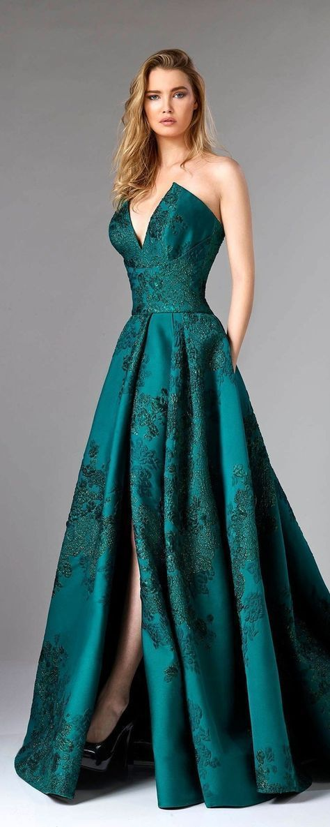 V-Neck Sleeveless Prom Dress,Open Back Floor Length Party by RosyProm, $200.44 U…