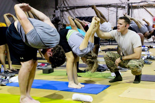 First Yoga Fest held at Bagram Airfield, Schweppe 'built a community of yogis'   Article   The United States Army