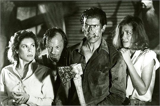 44. 'Evil Dead II' (1987): This is the movie that made Bruce Campbell a B-movie icon and won Sam Raimi a whole lot more directing gigs. This films has equal parts humor and gore, but when the frights happen, they happen on a grand scale. Ever wondered what it would be like to fight your own hand? You won't have to wonder anymore after watching this movie.