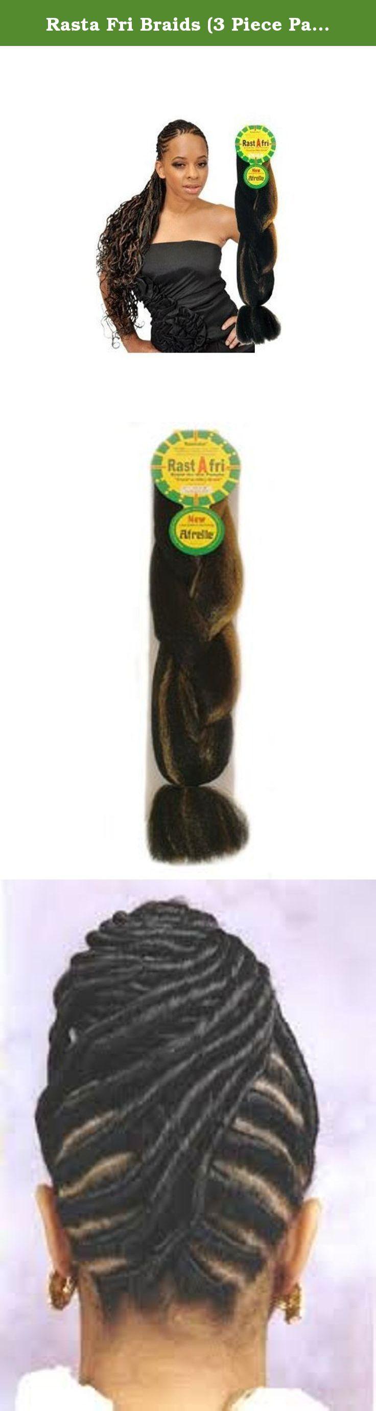 Rasta Fri Braids (3 Piece Pack for $10) (off black #1b). Rasta fri braid afrelle is a softer safer, silkier easier more elastic and natural braid fiber. The #1 seller for braids.