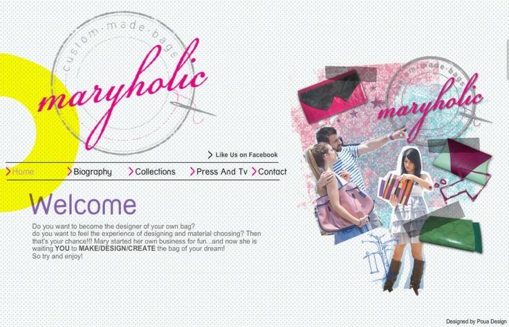 Web Design   www.maryholicbags.com