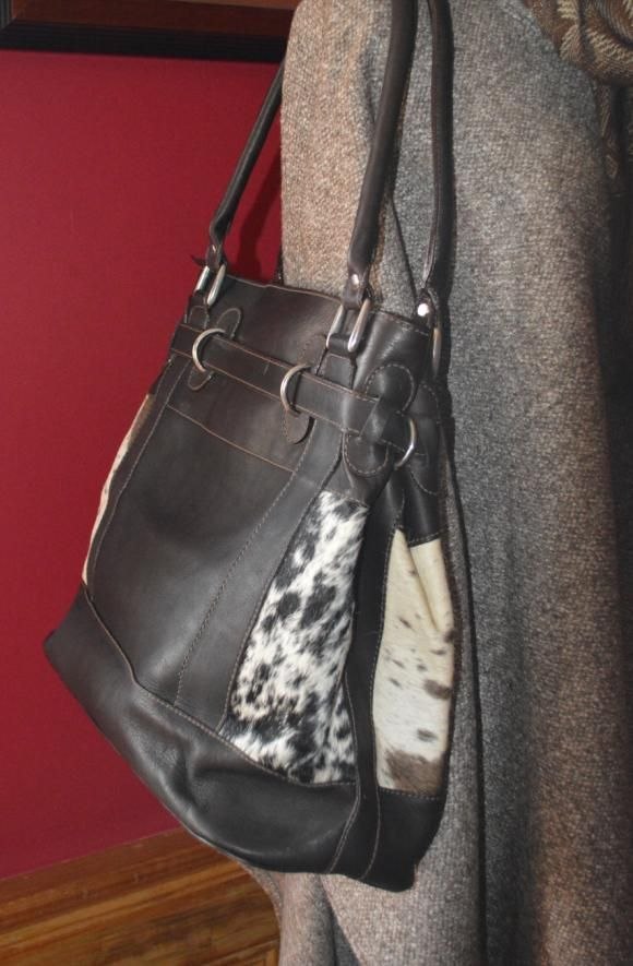Cowprint Purse 1 - leather side