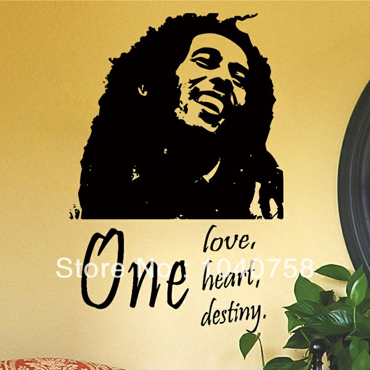 17 best images about wall quotes and sayings on pinterest for Inspiratinal bob marley wall decals
