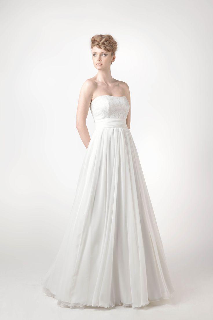 SADONI collection 2014 - Dress SENA: Nostalgic dress with fluid chiffon skirt and delicate lace top
