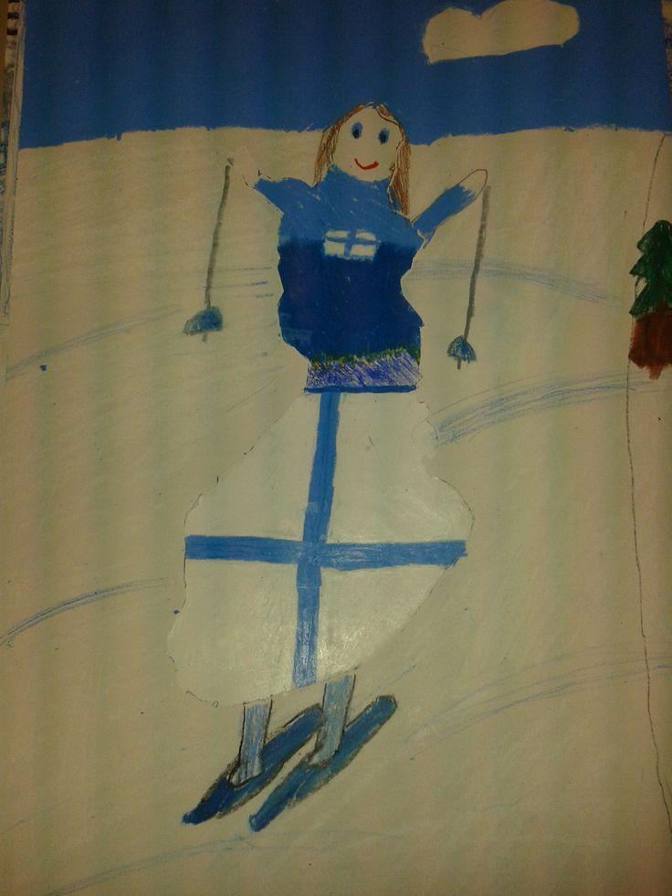 Suomineito hiihtäjänä