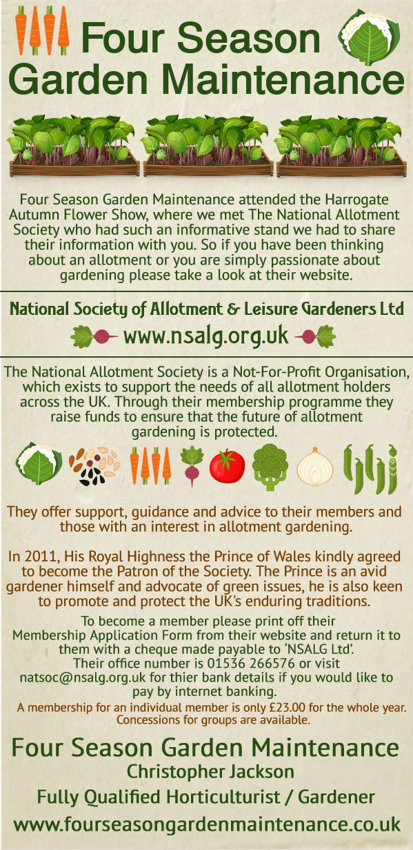 This Infographic Is Linked To The National Allotment Society Website