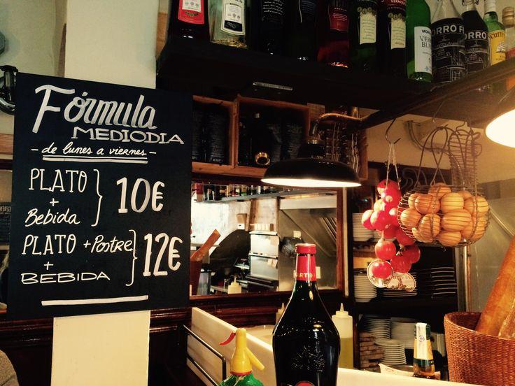 Fórmula mediodía en #ElCanalla...por si estáis por #Sarrià a la hora de comer! Cada día de lunes a viernes! #restaurantes #barcelona