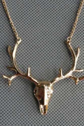 Elk Head Necklace