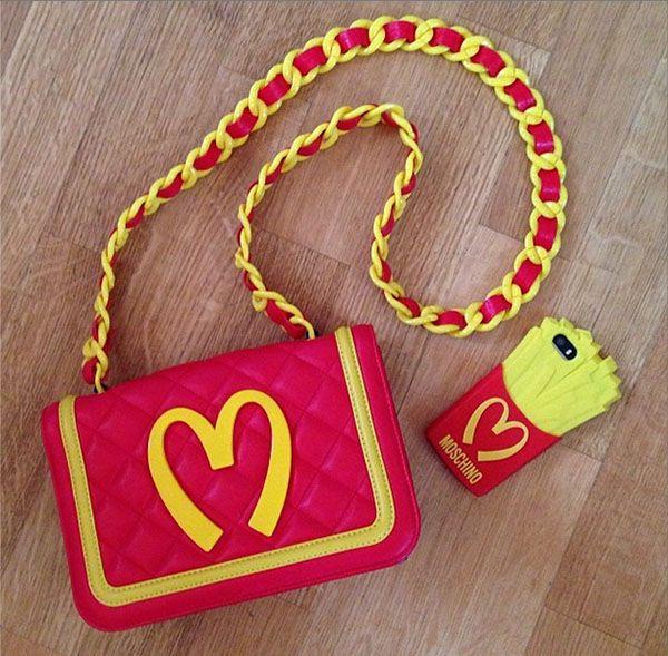 Get the look - Blog Não Resisti - Capinha de McDonald's + Capinha de celular batata frita Moschino aliexpress