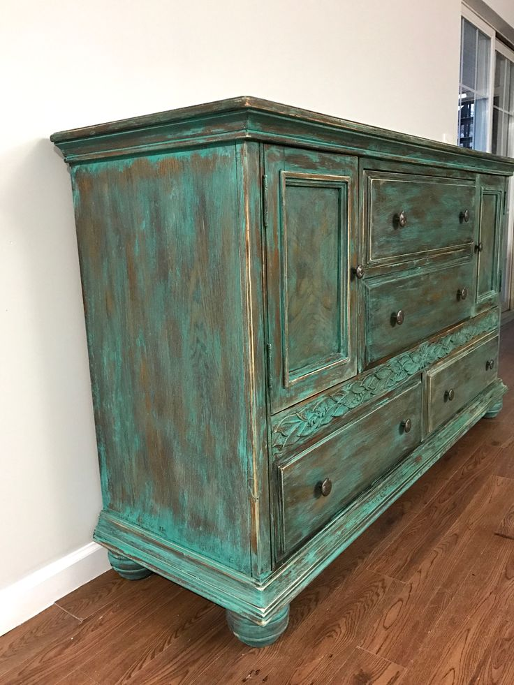 The finish is a hand painted in Florence and Coco chalk paint, distressed  with dark wax to give it an antique look and ... - 56 Best Distressed Furniture Images On Pinterest Distressed