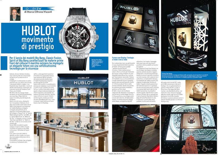 #Magazine #DisplayItalia swiss brand @Hublot has used an elegant totem with a sophisticated security technology #dietlindisplaycase