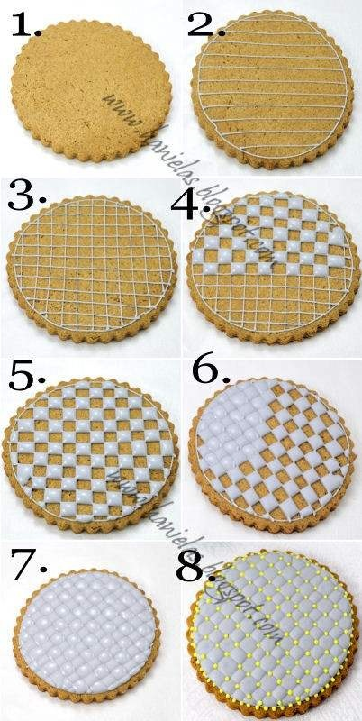 HANIELA'S - QUILTED COOKIE WITH ROYAL ICING TUTORIAL