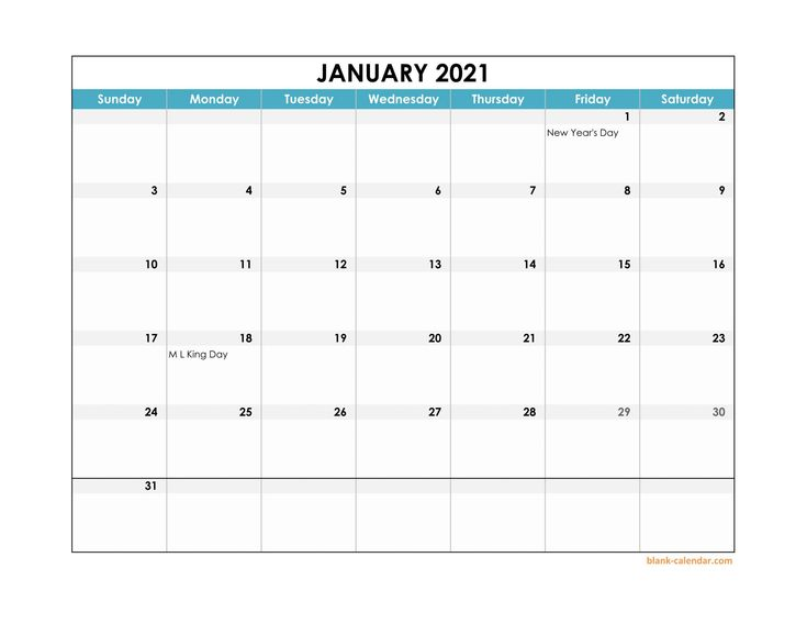2021 Weekly Calendar Excel Free in 2020 | Printable ...