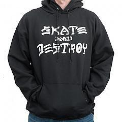 THRASHER   Skate and Destroy hood Black