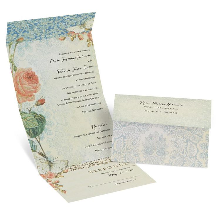 Brilliant Garden Seal and Send Invitation