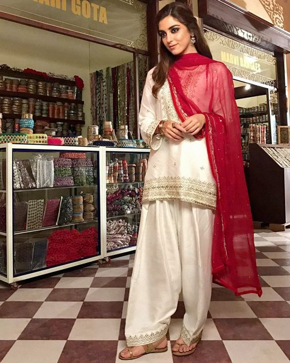 afb0ed7313 Gorgeous red and white shalwar kameez | Dresses in 2019 | Dresses ...