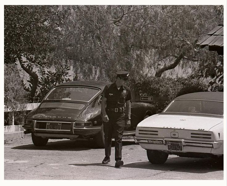 Tragic cars~  Pics of Sharon Tate's rented yellow '69 Camaro and Abigail Folger's hot- rodded 68 400 Firebird, parked outside on the night of the Manson murders.  Abigail Folger's Firebird is still around and has been kept in the exact condition of the day it was last driven by her at the crime scene.  It's in an undisclosed location in GA.  The Sharon Tate Camaro has never been tracked down, since it was simply a rental and went back out as a rental car..... #MansonMurders #SharonTate…