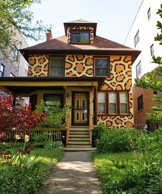 Leopard print house
