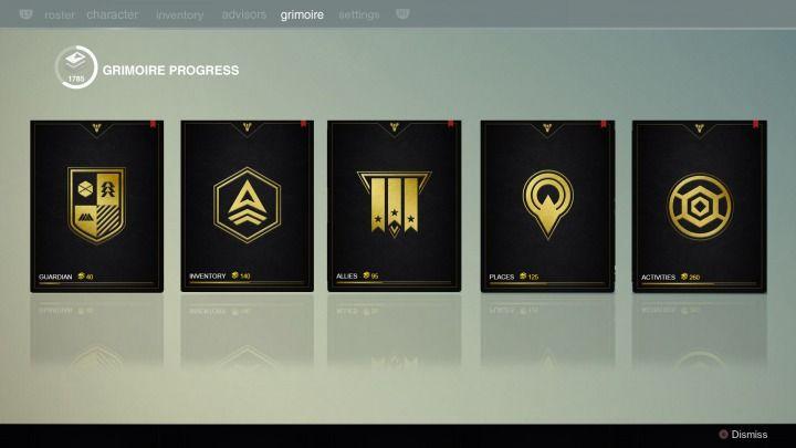 Destiny Concept UI Grimoire